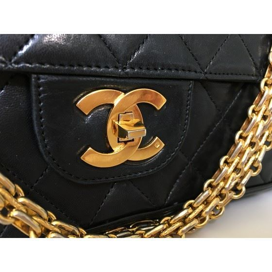 Picture of Chanel 2.55 medium timeless double flap bag with mademoiselle chain