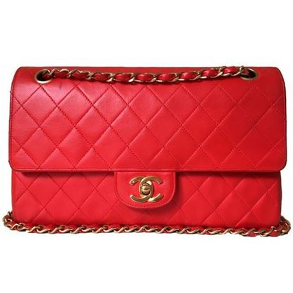 Image of Chanel medium 2.55 red double flap bag