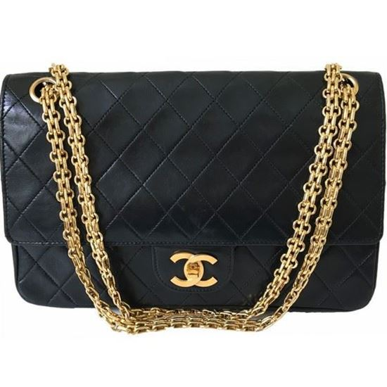 Vintage And Musthaves Chanel Medium Double Flap Bag With