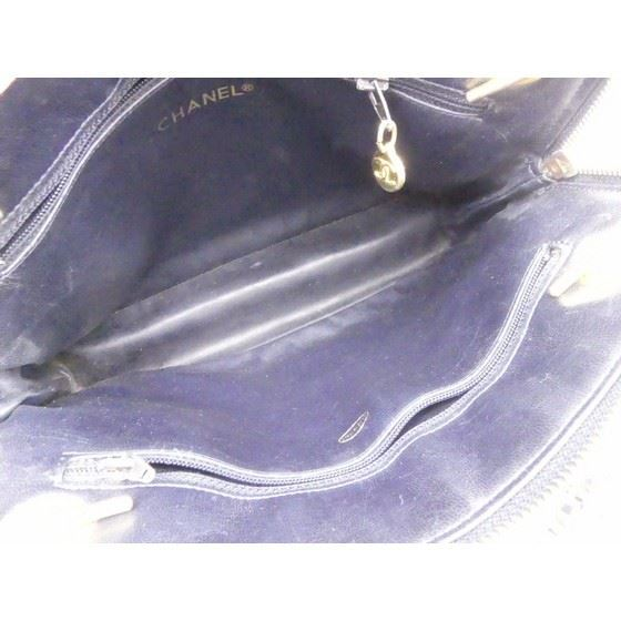 Picture of Chanel navy ziptop tote shopper bag