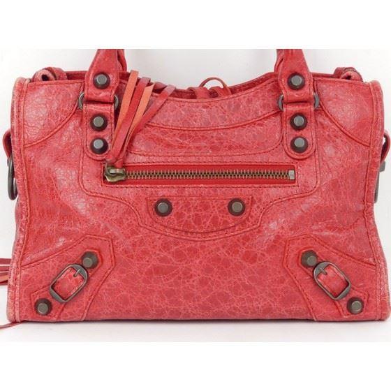 Picture of BALENCIAGA Mini City Rouge Cardinal Leather 2 Way Bag