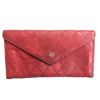 Image of Chanel red  long wallet