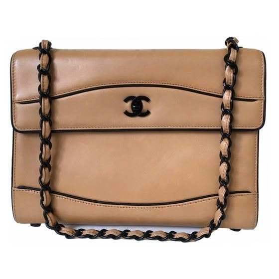 Picture of Special piece: Chanel bicolor lambskin bag with black hardware