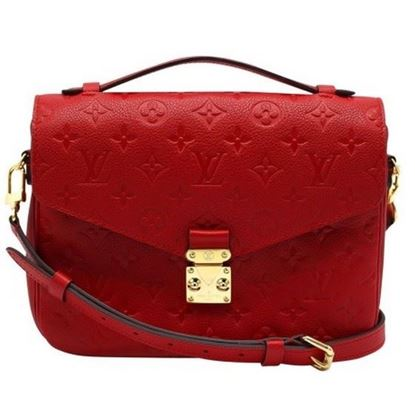 Image of Louis Vuitton pochette Metis cerise