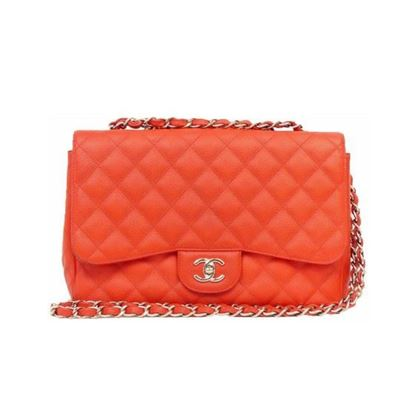 Image of Chanel jumbo timeless 2.55 red caviar  flap bag
