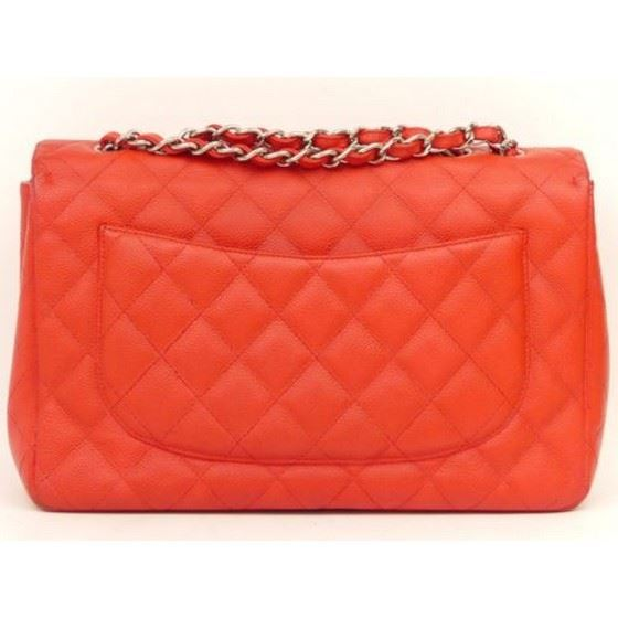 Picture of Chanel jumbo timeless 2.55 red caviar  flap bag