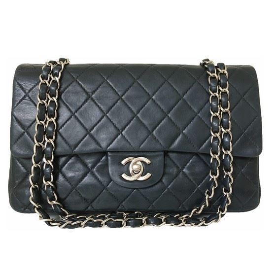 cd4765936257 Picture of Chanel medium timeless 2.55 double flap bag with silver hardware