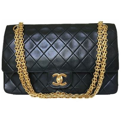 Image of Chanel medium double flap bag with mademoiselle chain