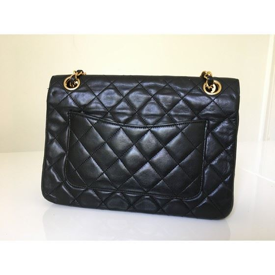 Picture of Chanel timeless  classic 2.55 fullflap double chain turnlock bag