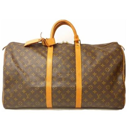 Image of Louis Vuitton keepall 55 monogram boston travel bag
