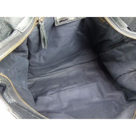 Picture of Balenciaga motorcycle classic City Black Leather 2 Way bag