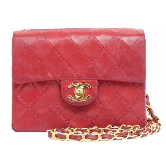 d30cf718cf7d Vintage and Musthaves. Chanel timeless 2.55 red square mini ...