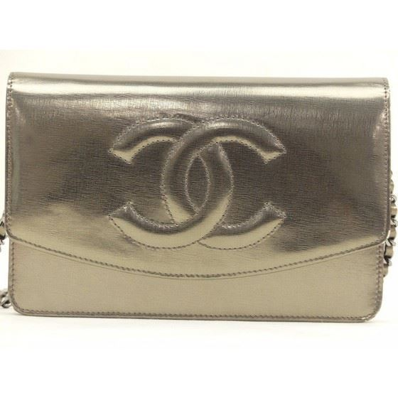 "Picture of Chanel rare gold  WOC ""wallet on chain"" bag"