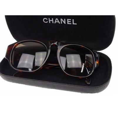 Image of Chanel tortoiseshell sunglasses