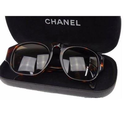 Image of Chanel tortoiseshell sunglasses