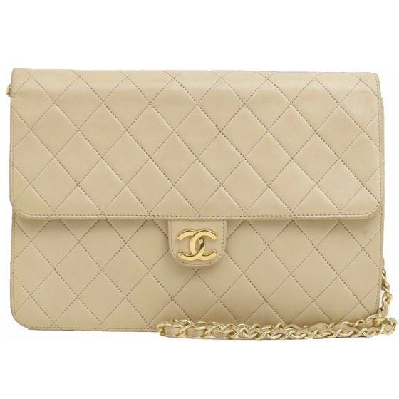a76fa393ecf8 Vintage and Musthaves. Chanel beige medium 2.55 classic flap bag