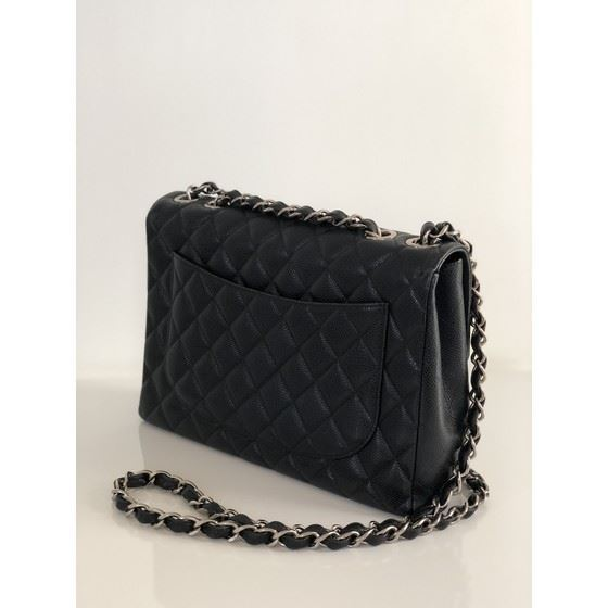 Picture of Chanel jumbo timeless 2.55 black caviar  flap bag