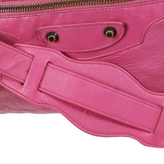 Picture of BALENCIAGA City in pink Leather 2 Way Bag