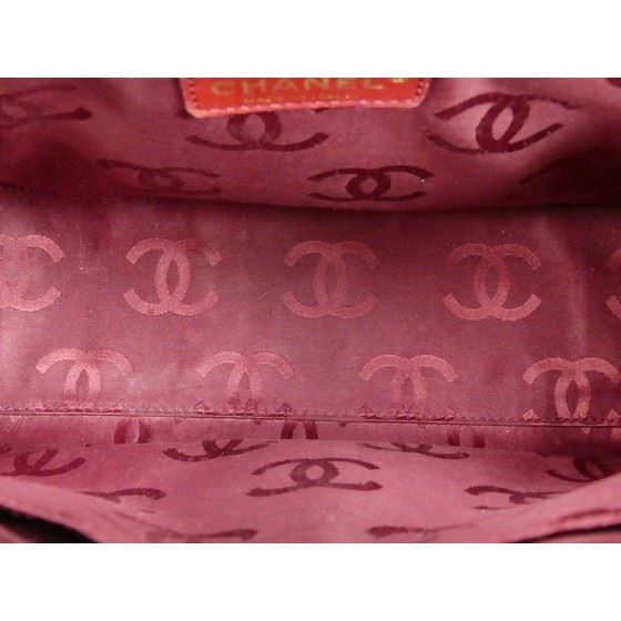 Picture of CHANEL burgundy wild stitch bowlingbag