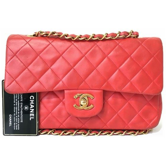 Picture of Chanel small 2.55 red double flap bag
