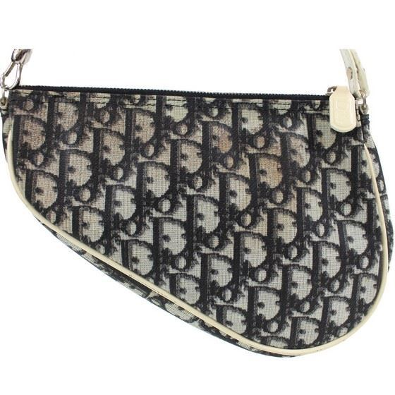 Picture of Christian Dior logo small saddle bag