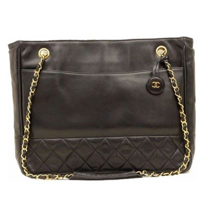 Image of Chanel black charm shopper tote bag