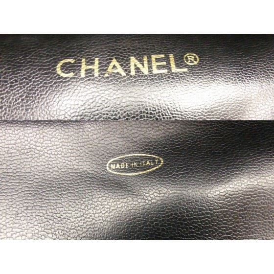 Picture of Chanel black charm shopper tote bag