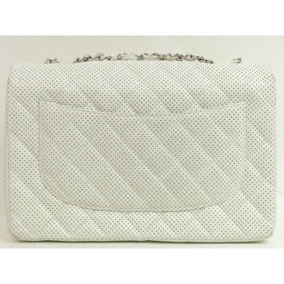 Picture of Chanel jumbo timeless 2.55 white lambskin  flap bag