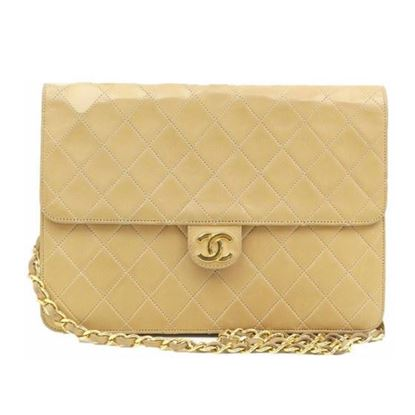Image of Chanel beige medium 2.55 classic flap bag