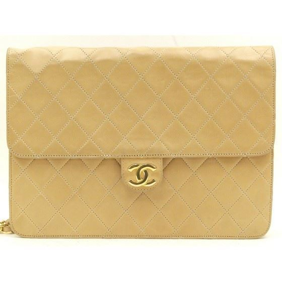 Picture of Chanel beige medium 2.55 classic flap bag