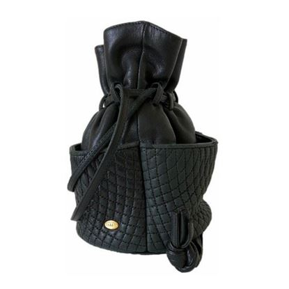 Image of Bally black small bucket bag