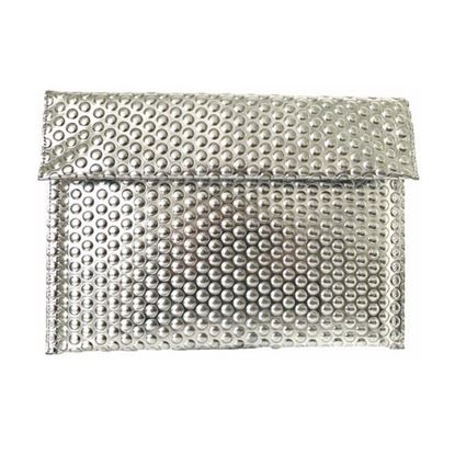 Image of Maison Martin Margiela Silver Folded Bubble Clutch