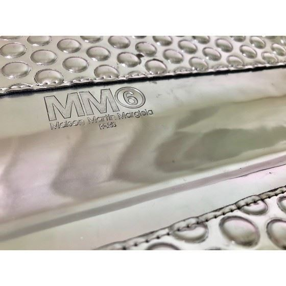 Picture of Maison Martin Margiela Silver Folded Bubble Clutch