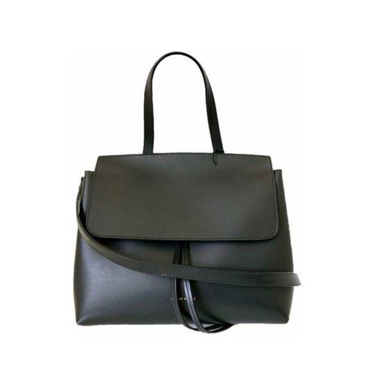 Picture of Mansur Gavriel mini lady bag in black flamma
