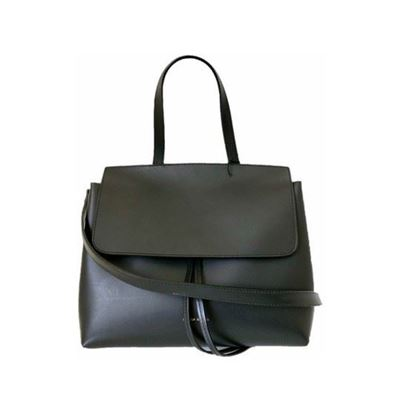 Image of Mansur Gavriel mini lady bag in black flamma