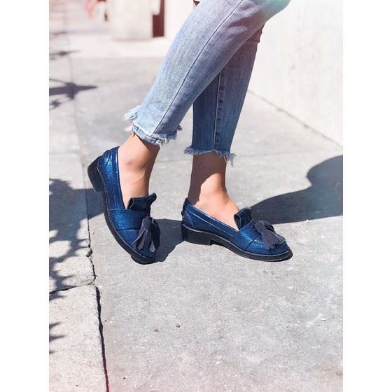 Picture of ACNE STUDIOS Azalea glitter loafers