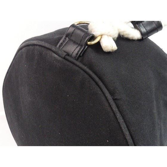 Picture of Special piece:  CHANEL SOLEIL Black Cotton CC Logo Drawstring Shoulder Bag