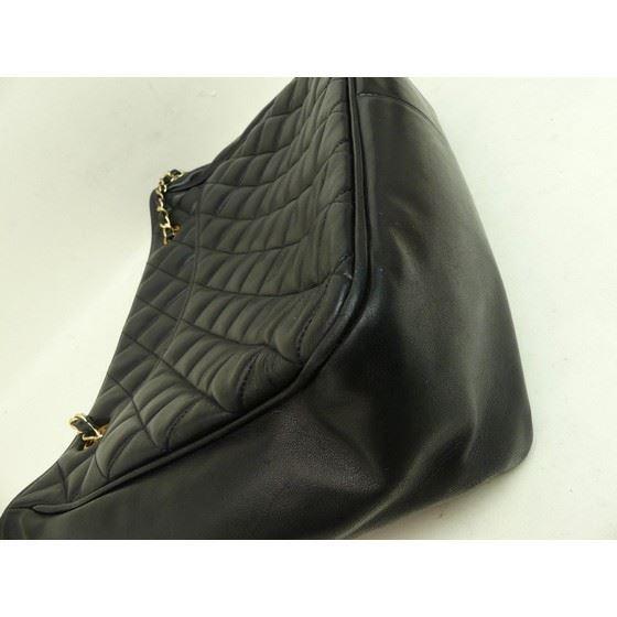 Picture of Chanel black ziptop charm shopper tote bag