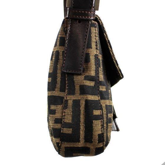Picture of Fendi Zucca Pattern hobo  Mamma Baguette shoulder bag
