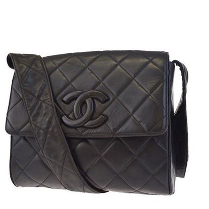 Image of SPECIAL PIECE: Chanel so black large crossbody box bag