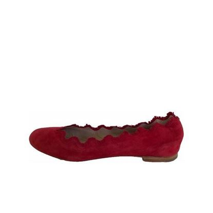 Image of Chloe red suede flats