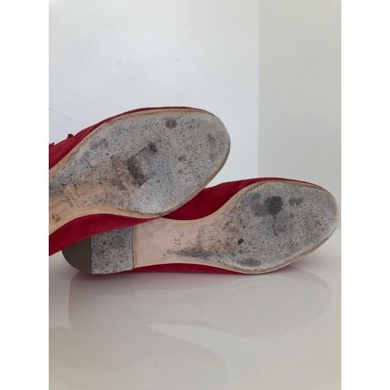 Picture of Chloe red suede flats