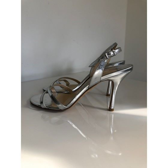 Picture of Jimmy Choo silver leather sandal