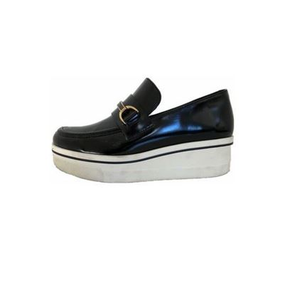 Image of Stella McCartney black binx loafers