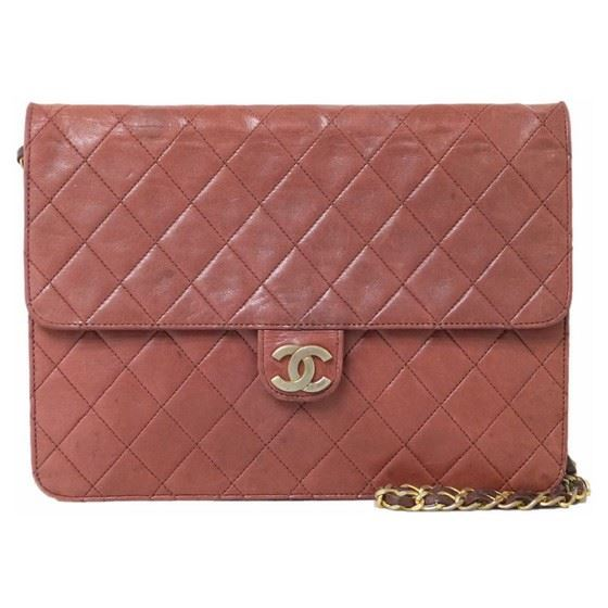 Picture of Chanel classic timeless 2.55 burgundy red bag