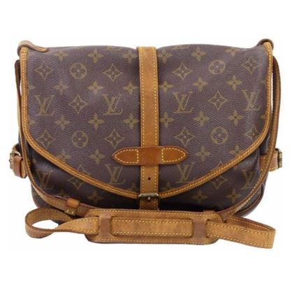 Image of LOUIS VUITTON, SAUMUR 30 monogram messenger bag