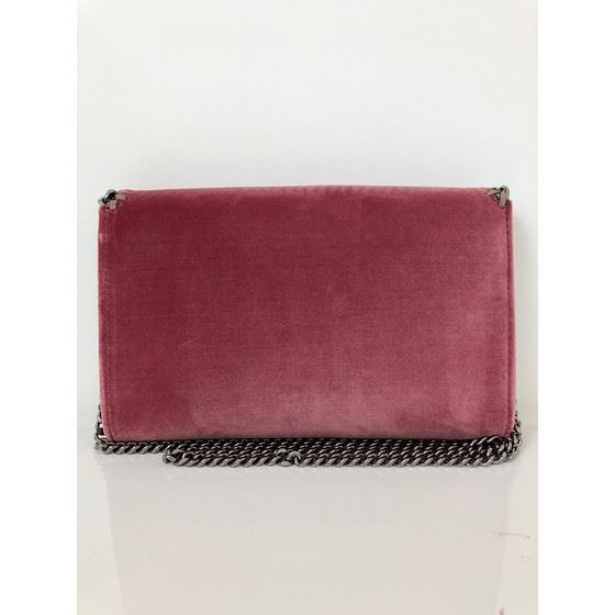 Picture of STELLA MCCARTNEY 'Falabella'  pink velvet crossbody bag