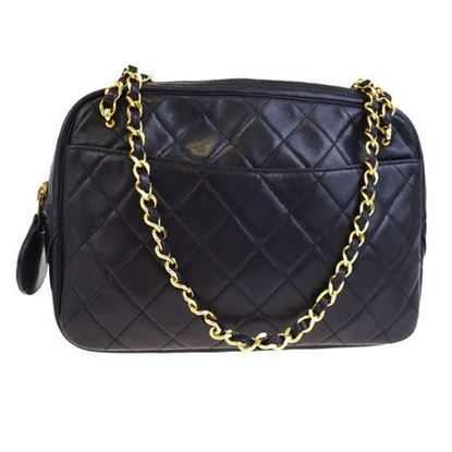Image of Chanel classic crossbody ziptop camera bag