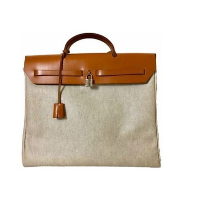 Image of HERMES Toile Herbag 39 MM, 2 In 1 Bag