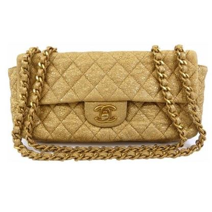 Image of Copy of SPECIAL PIECE: Chanel gold leather double chain bag